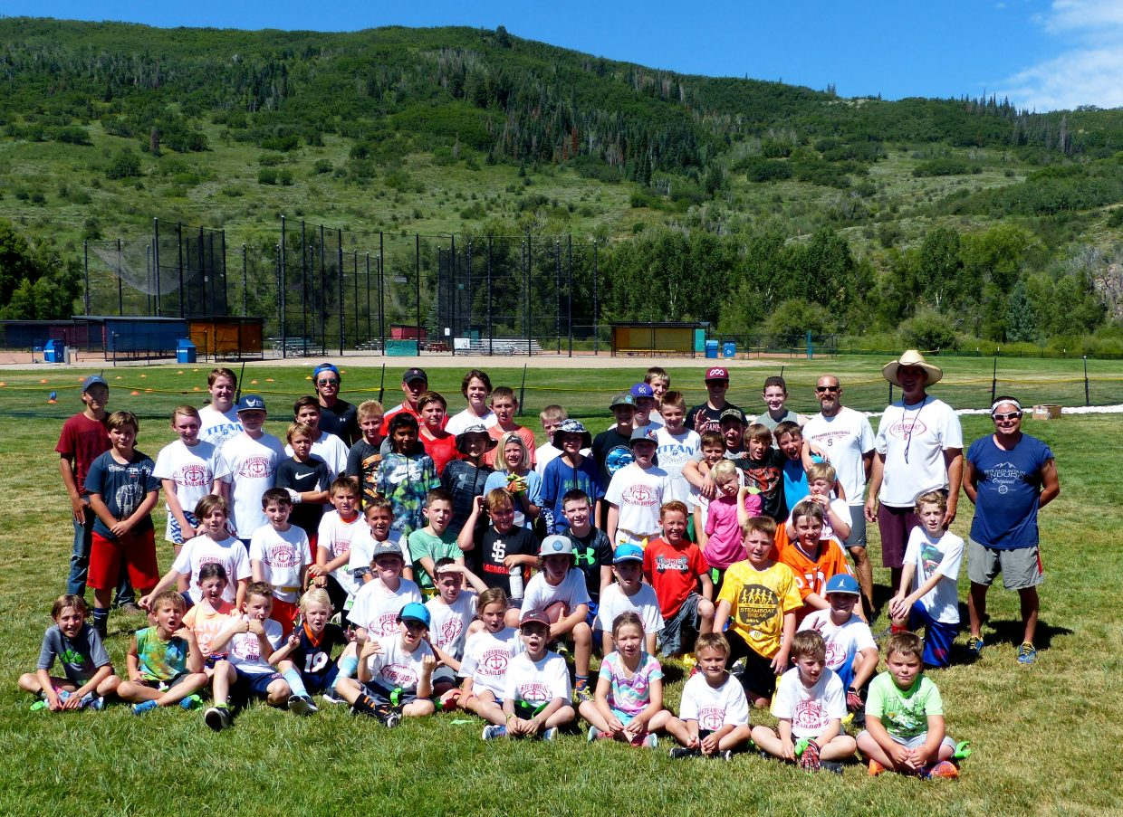 The heat didn't bother the kids in the Steamboat Springs Youth Football Camp this week. It ended today. Boys and girls ages K-8 participated, with help from SSHS football players.