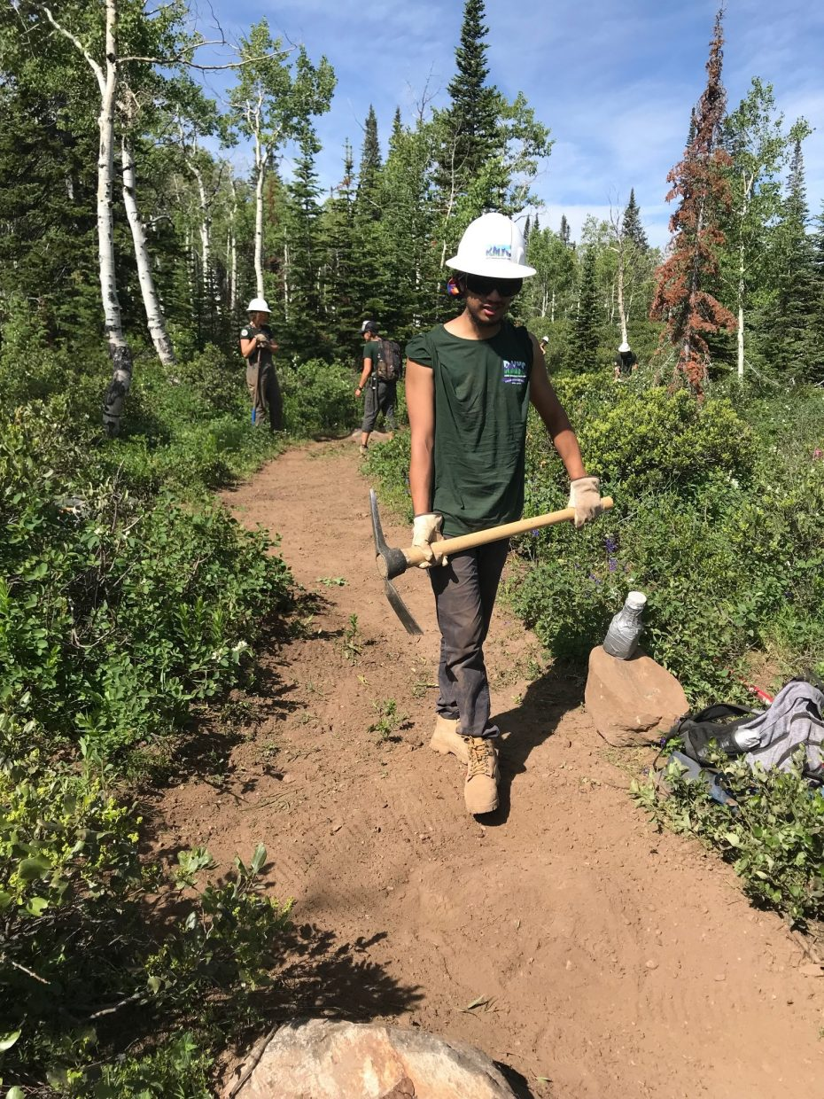 Rifle's Chris Merino started as a young service volunteer in Rocky Mountain Youth Corps and is now working in the Young Adult Program at 19 as he considers entering college.