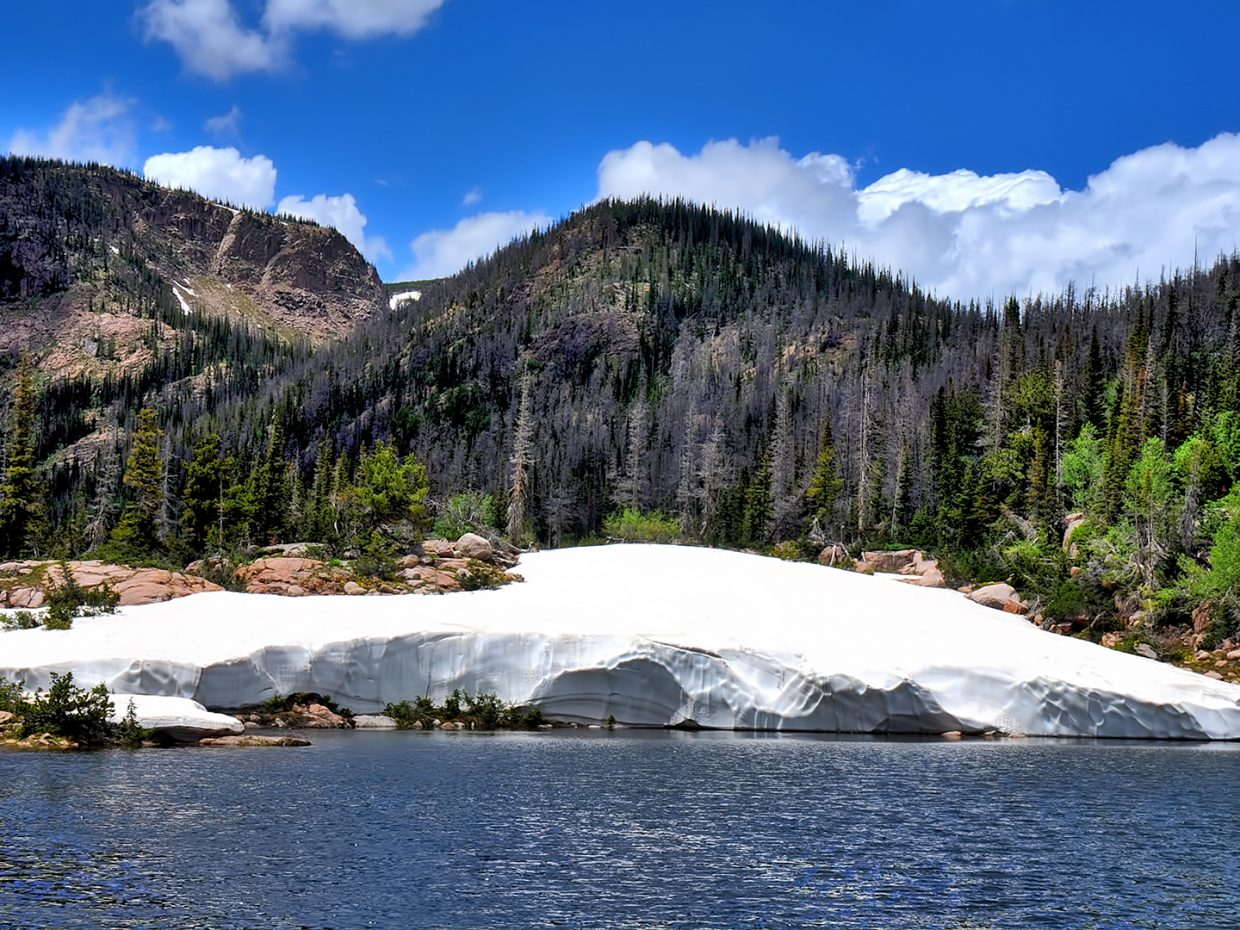 Rainbow Lake in the Mount Zirkel Wilderness Area.