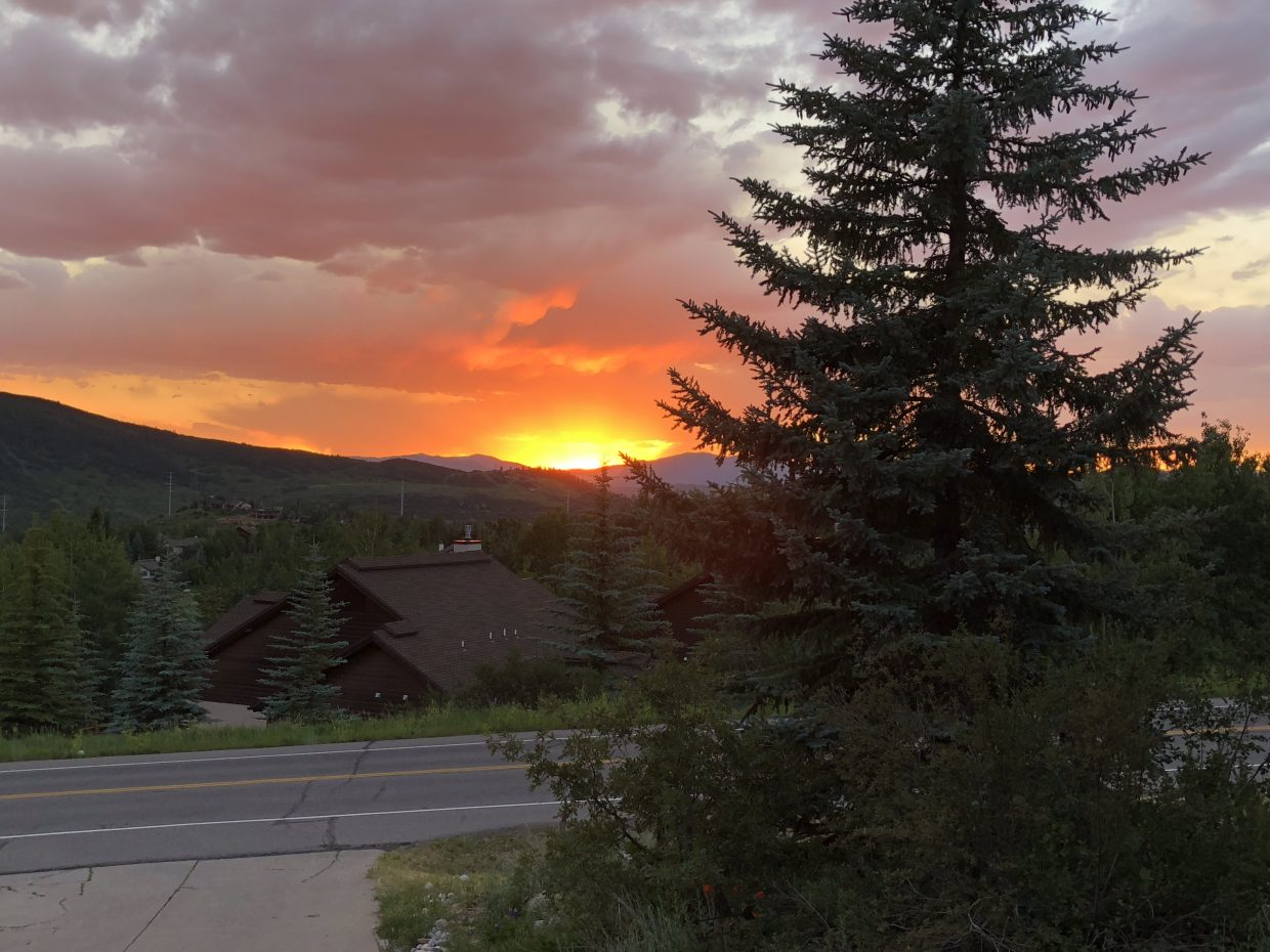 Steamboat Springs sunset