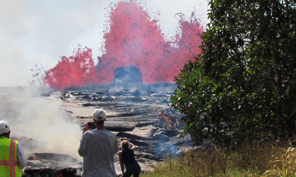 Former Steamboat resident Jeff Murray and his wife, Jan, were forced to evacuate their home on the big island of Hawaii when lava flows cut through the neighborhood of Leilani Estates. Jeff escaped with two German shepherds and his musical instruments.
