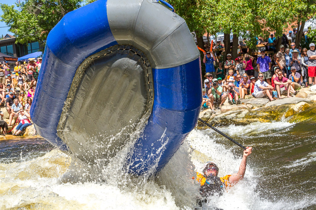 Rafting fun at the Charlie's Hole at the Yampa River Festival in Steamboat Springs.