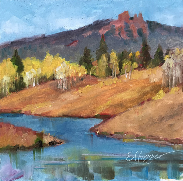 A piece by Plein Air local artist Greg Effinger.
