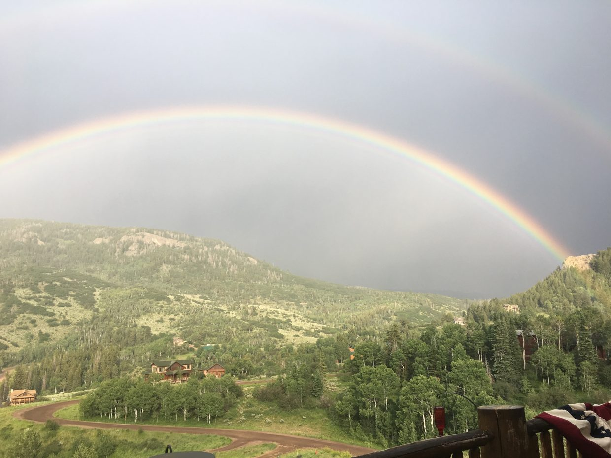 Sun and rainbow—such beauty in Steamboat Springs!!
