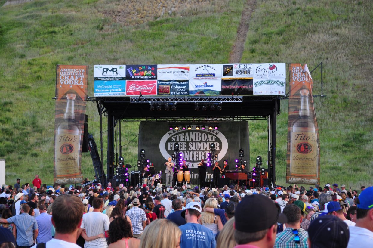 JJ Grey & Mofro rock Howelsen Hill Amphitheater during the 2018 Steamboat Free Summer Concerts.