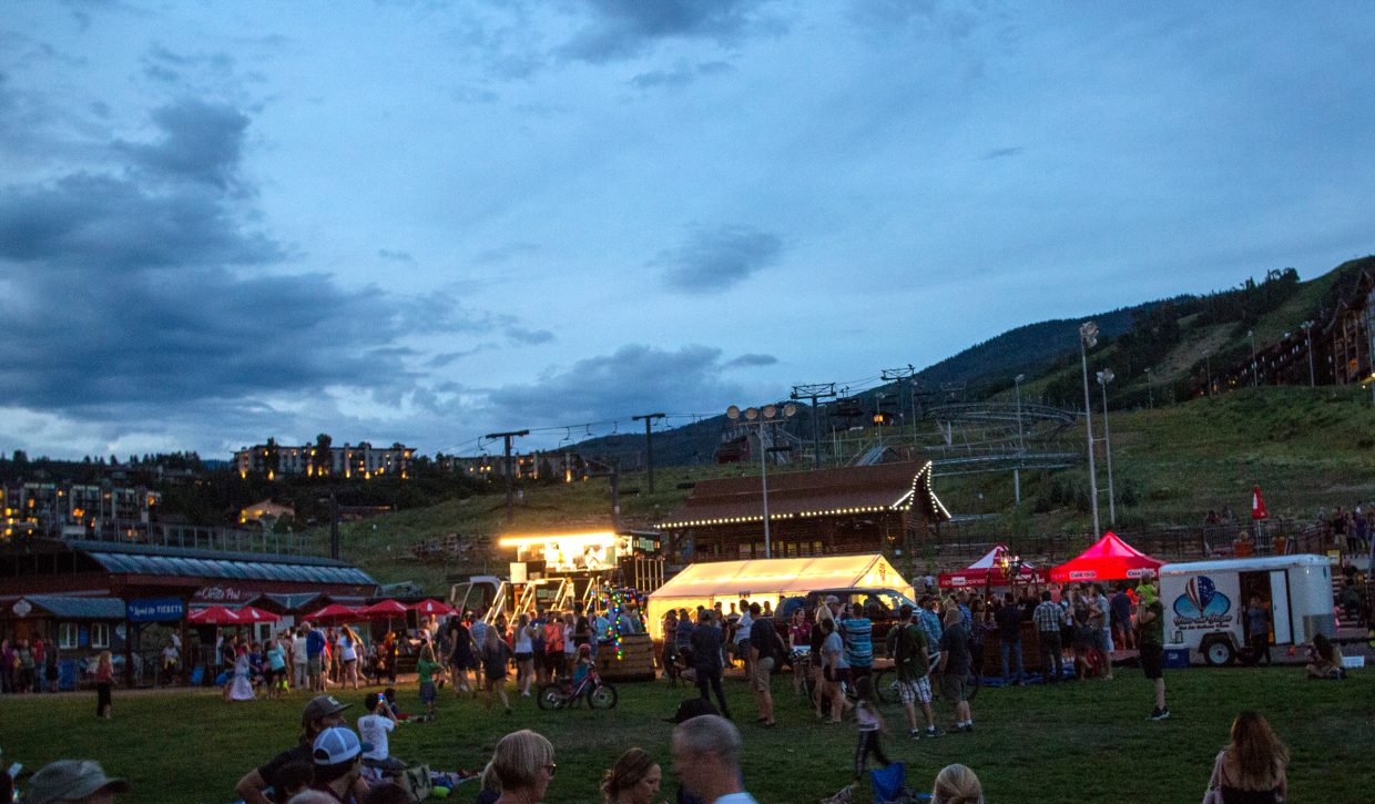 Everything gets set up at the Ski Area for the Balloon Glow on Saturday.