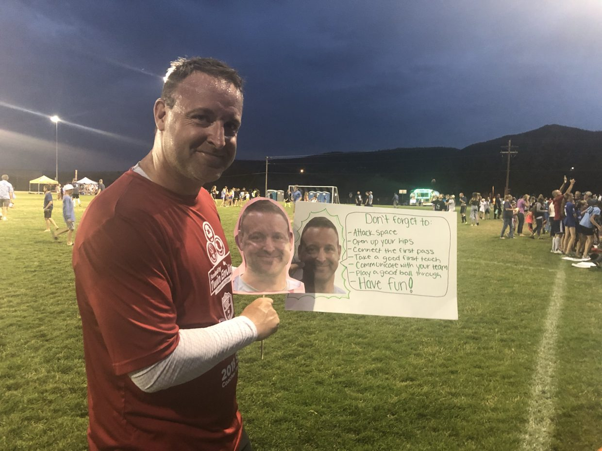 We are enjoying your beautiful town of Steamboat for the soccer tournament! These pictures were taken at the coach game. The coach is Sean Kelty, Elevation FC, Denver.