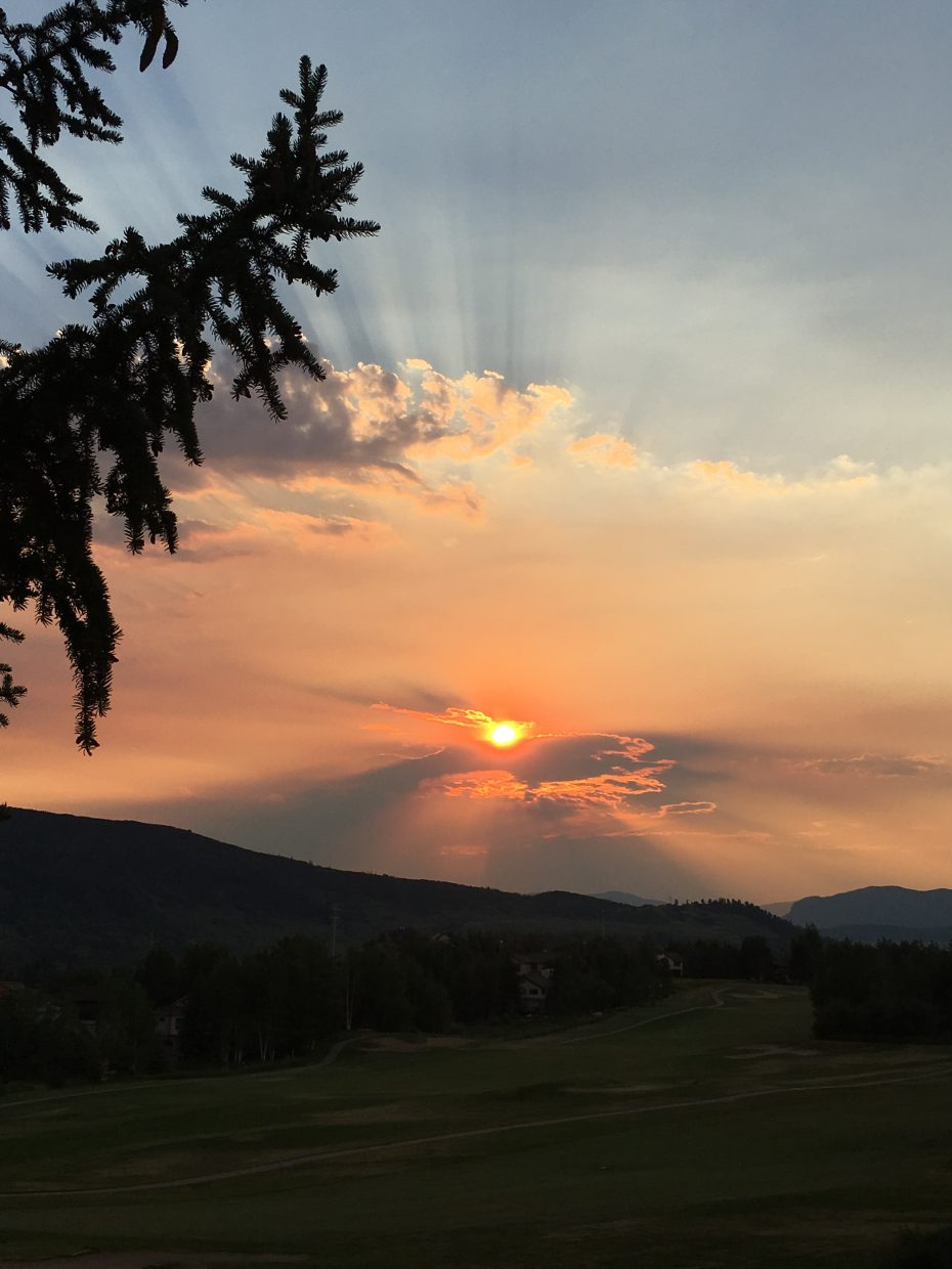 The sun sets on Steamboat Springs.