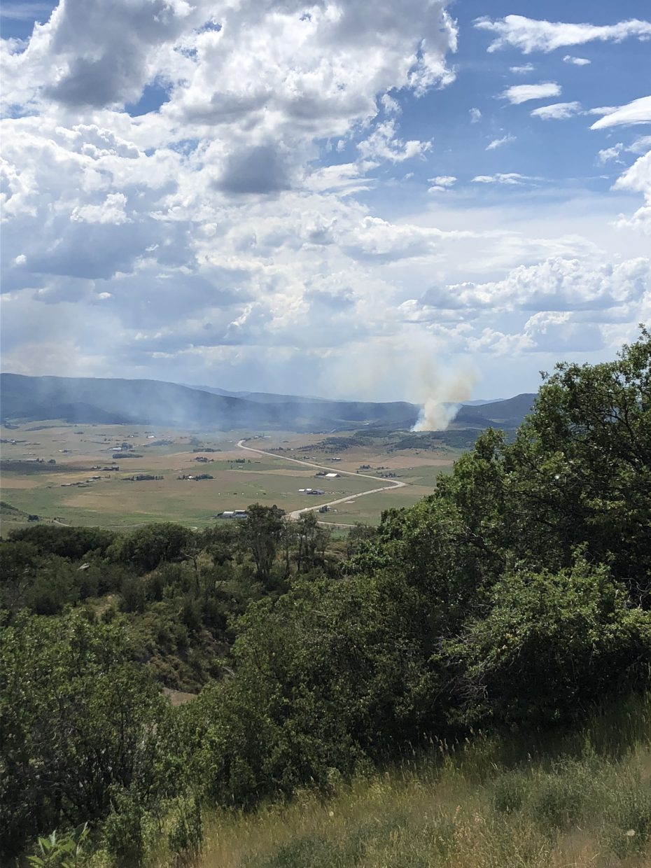 Fire in South Routt