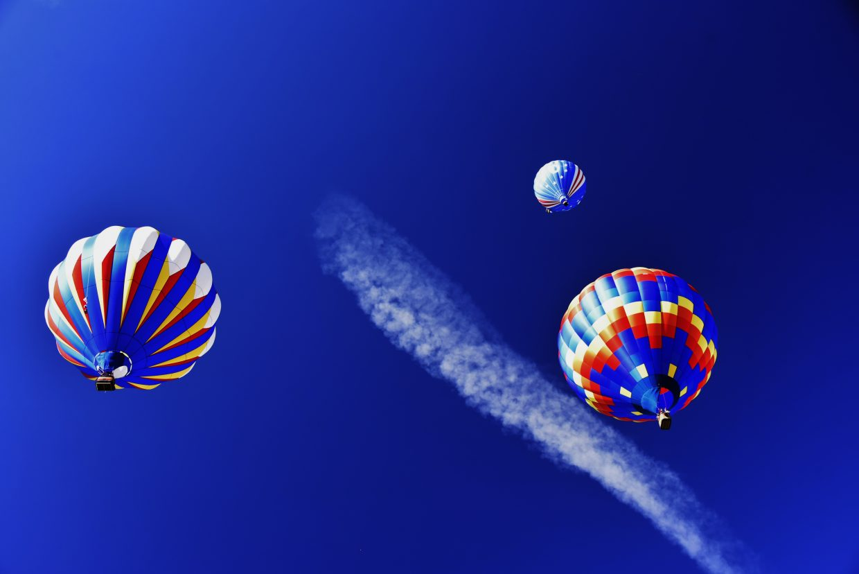 Hot Air Balloons climbing a stairway to heaven.