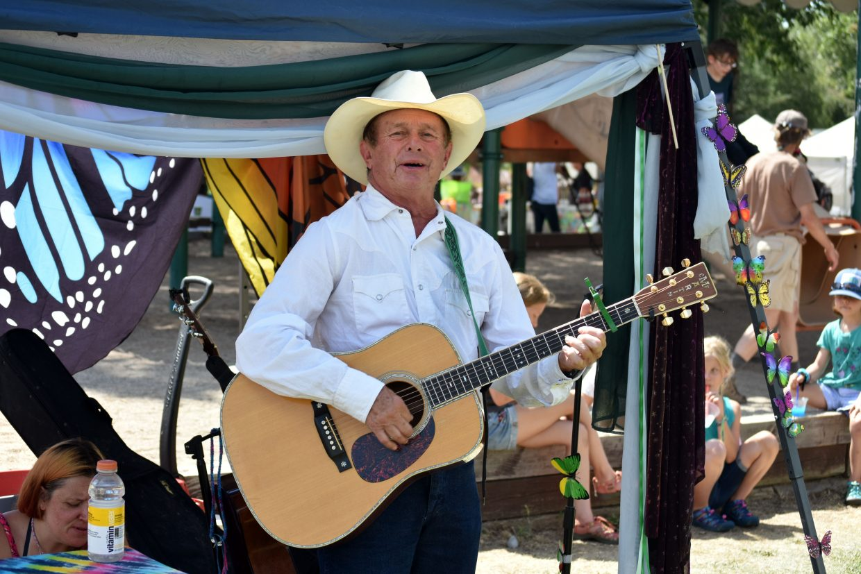 Performers played live music throughout the weekend at Art in the Park in Steamboat Springs Sunday.
