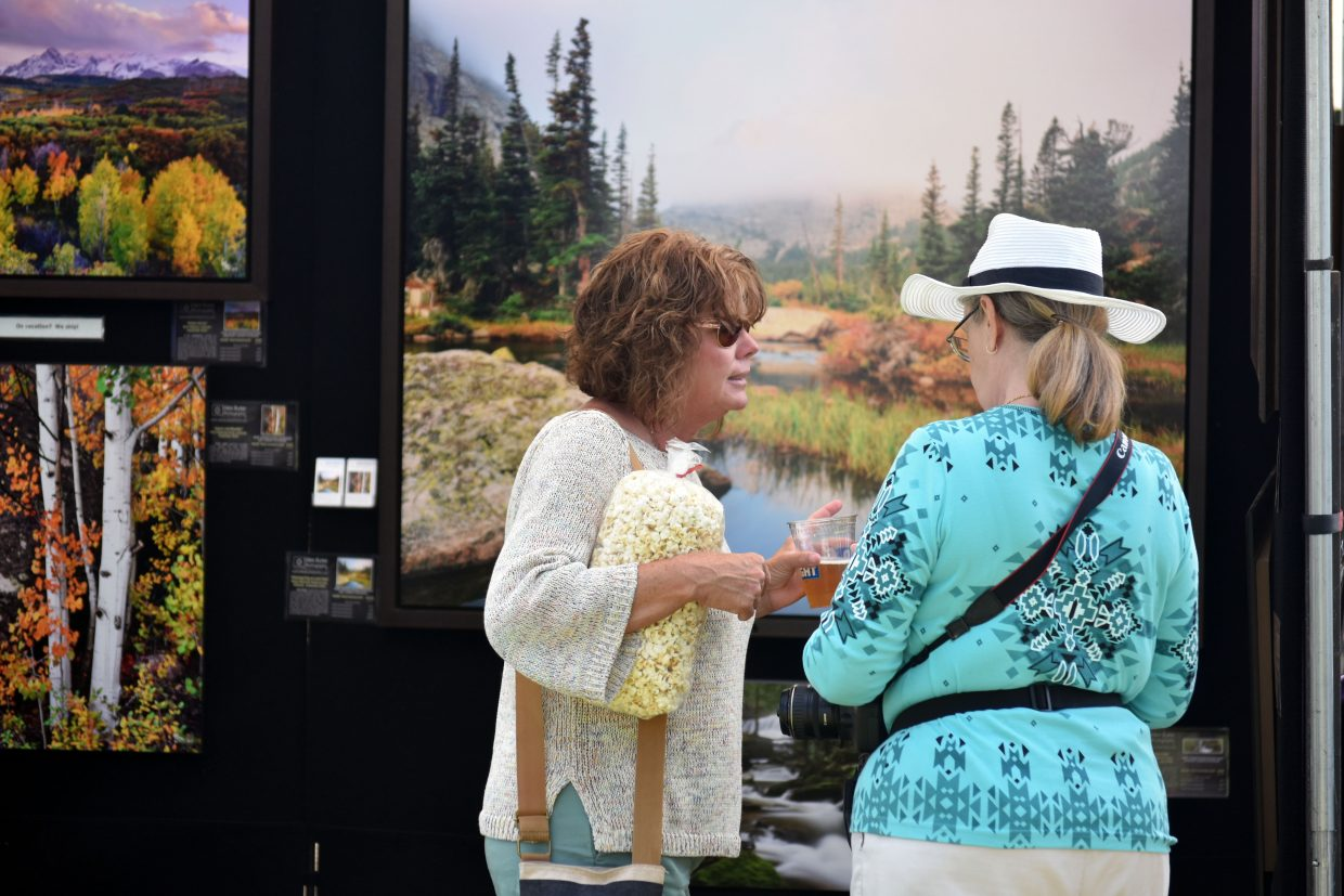 Visitors enjoyed beer and food truck fare at Art in the Park in Steamboat Springs on Sunday.