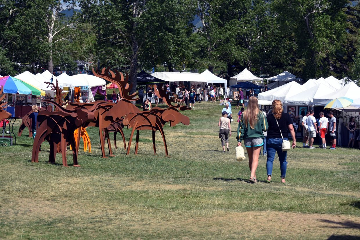 Art in the Park attracted about 150 vendors to Steamboat Springs on Sunday.