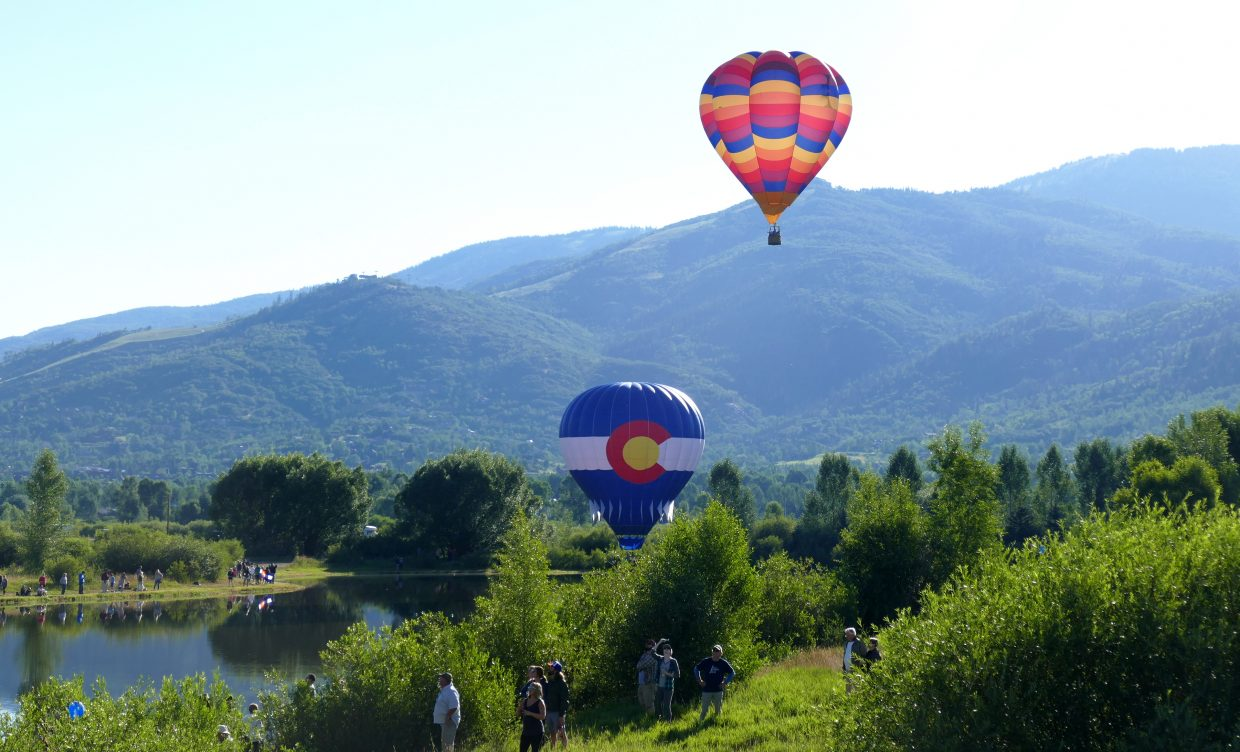 37th year for the Hot Air Balloon Rodeo in Steamboat Springs. 27 balloons were in the air and many came to watch, from all over the country and world.