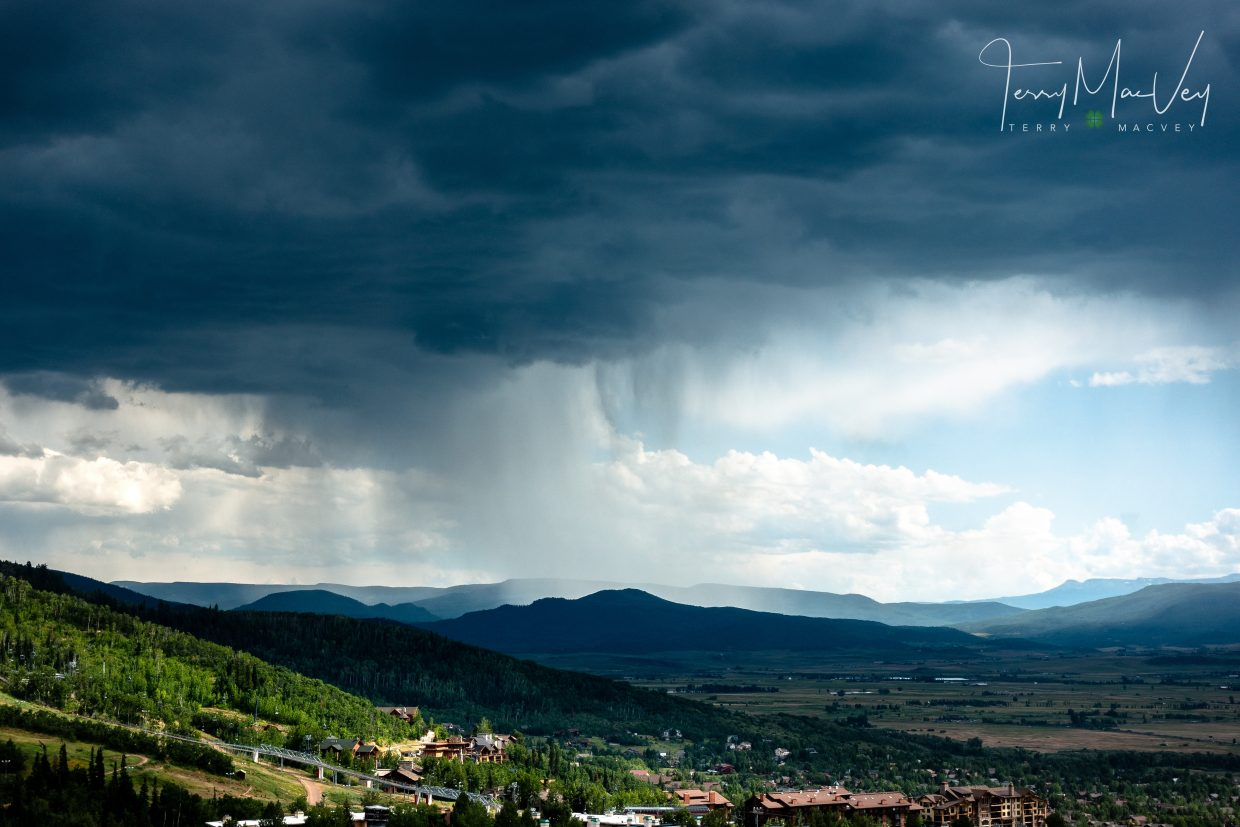 A thunderstorm builds over the Yampa Valley. (Photo taken from Ridge Road/Burgess Creek area)