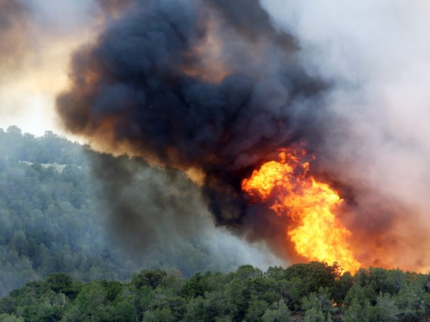 Basalt wildfire from Tuesday, July 3, 2018. (Austin Colbert/The Aspen Times)