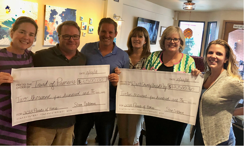 Colorado Group Realty's Parade of Homes on 8/11 raised a record $12,500 for Routt County United Way and $2,500 for the Tread of Pioneers Museum. The museum, along with the Crawford family, hosted the parade at the historic Crawford home at 1184 Crawford Ave.