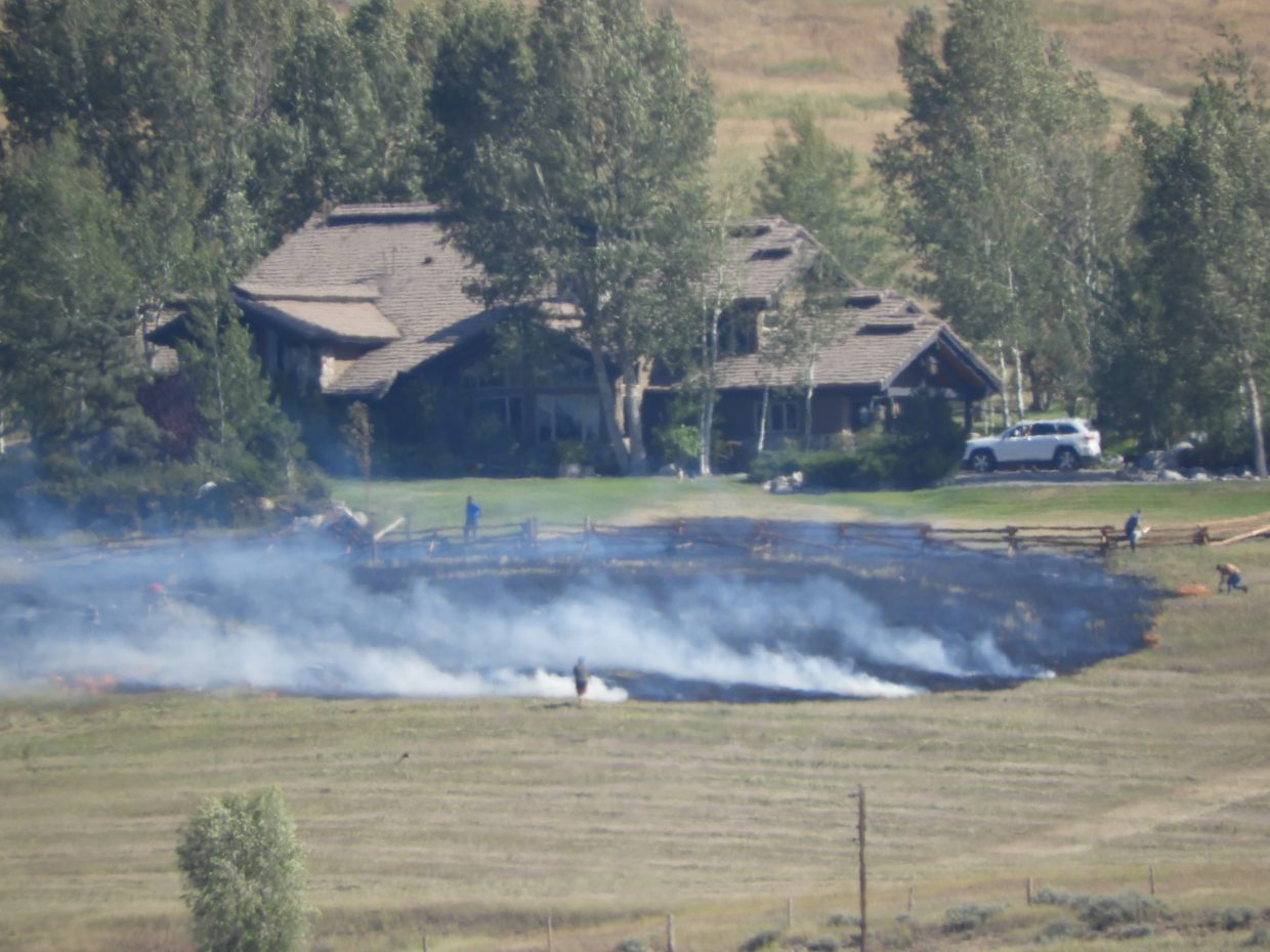 Fire on Routt County Road 33.