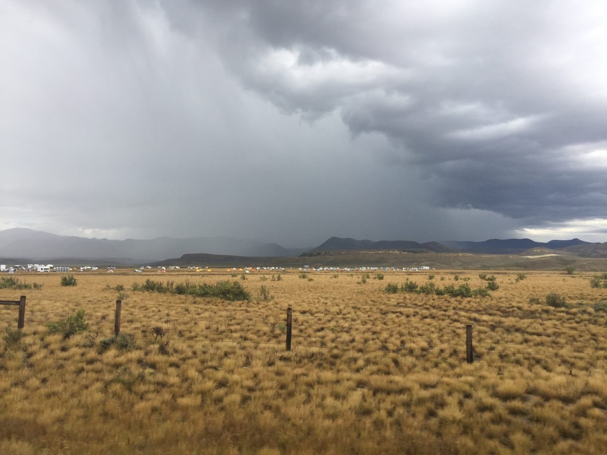 Silver Creek Fire staging area receives much needed rain.