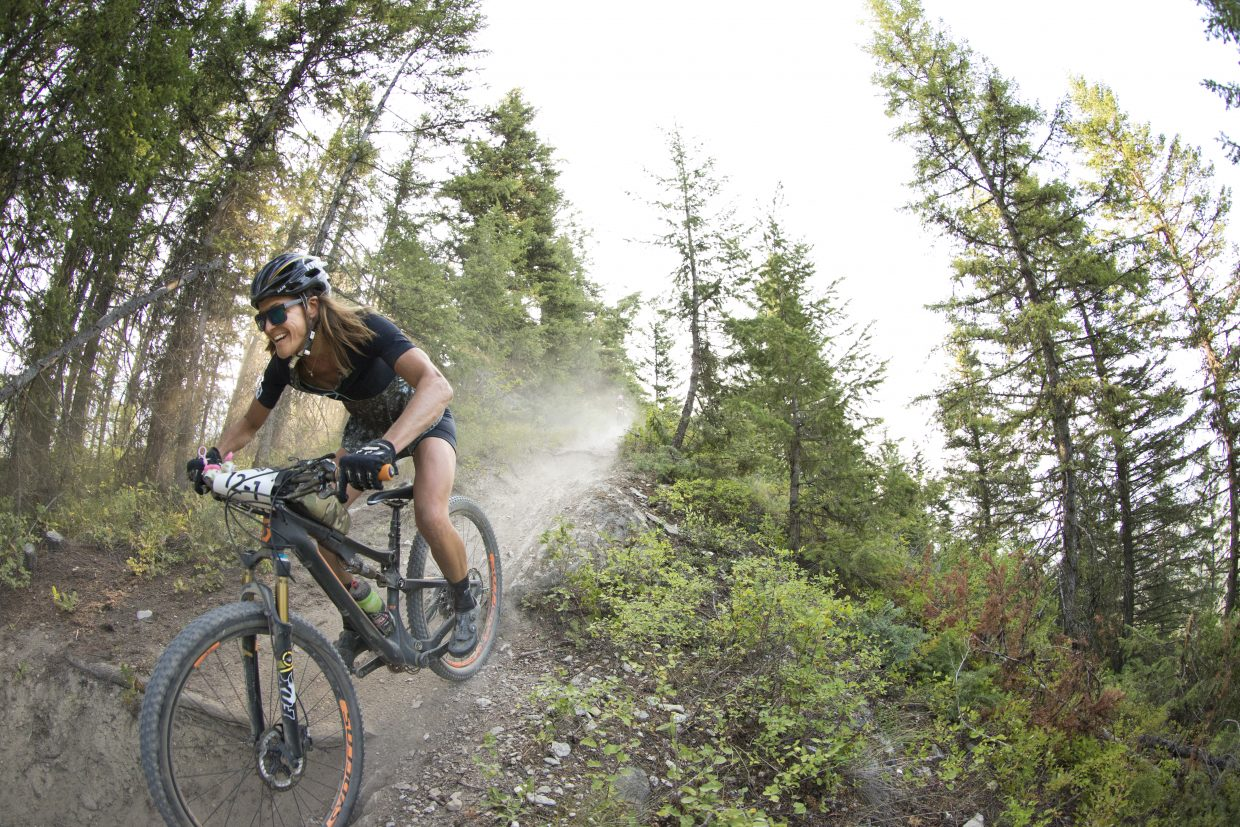 Mindy Mulliken rides in the annual Singletrack 6 Canadian bike race.