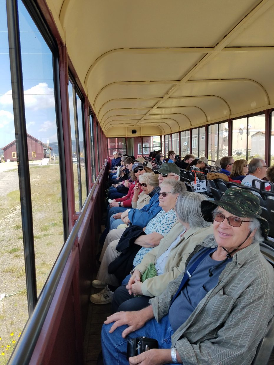 Steamboat Seniors enjoy a day on the Leadville train.