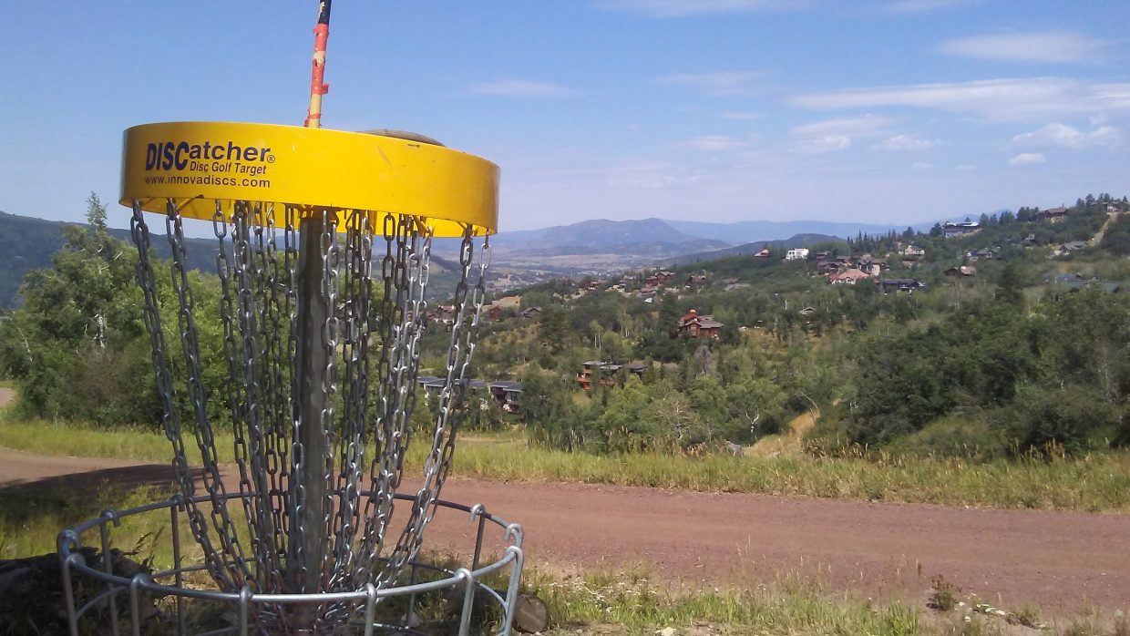 Steamboat Springs disc golf.