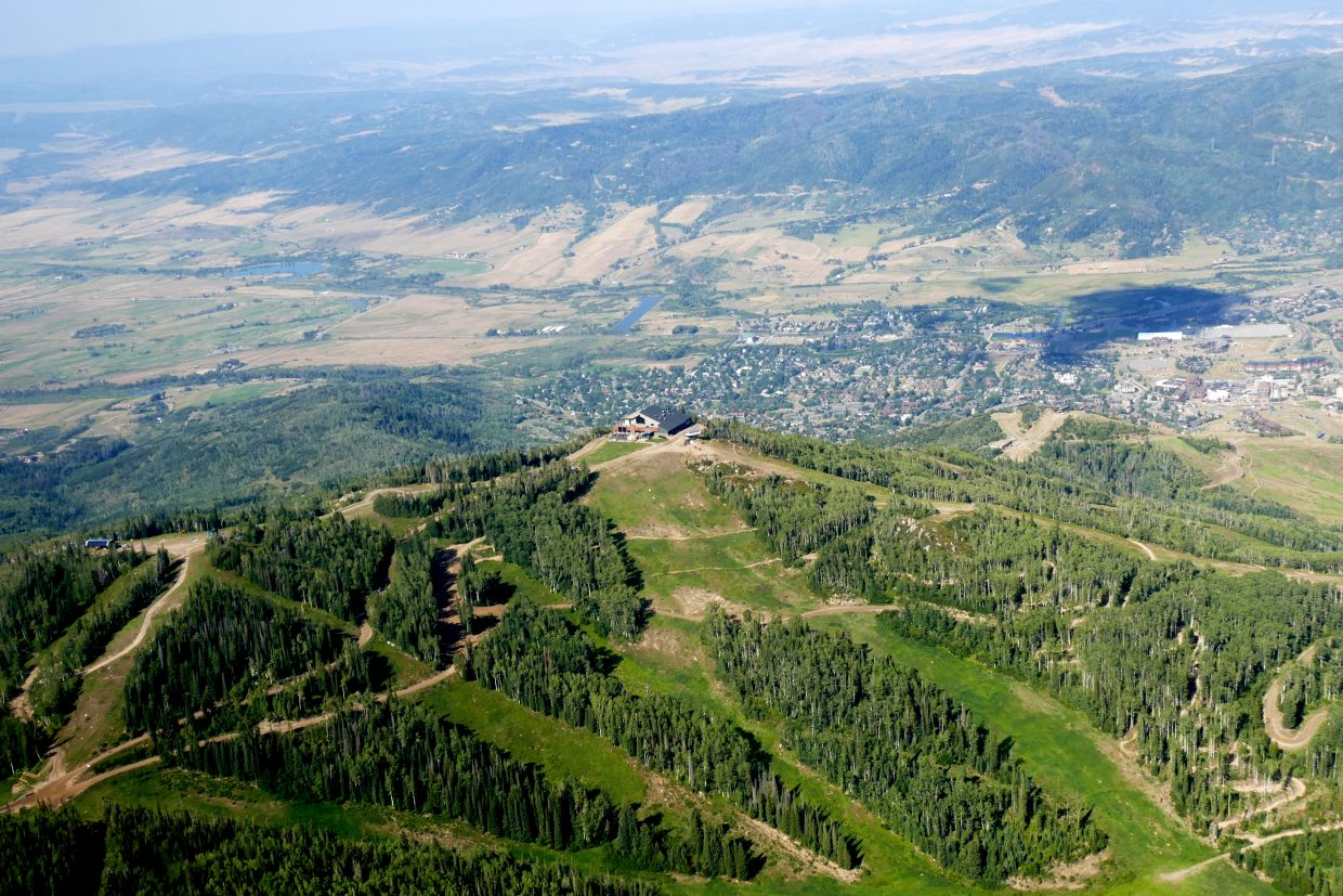 I got to take an airplane ride over Steamboat and Routt County today with Eco-Flight out of Aspen. Here are a few of the best pictures that you are welcome to use.