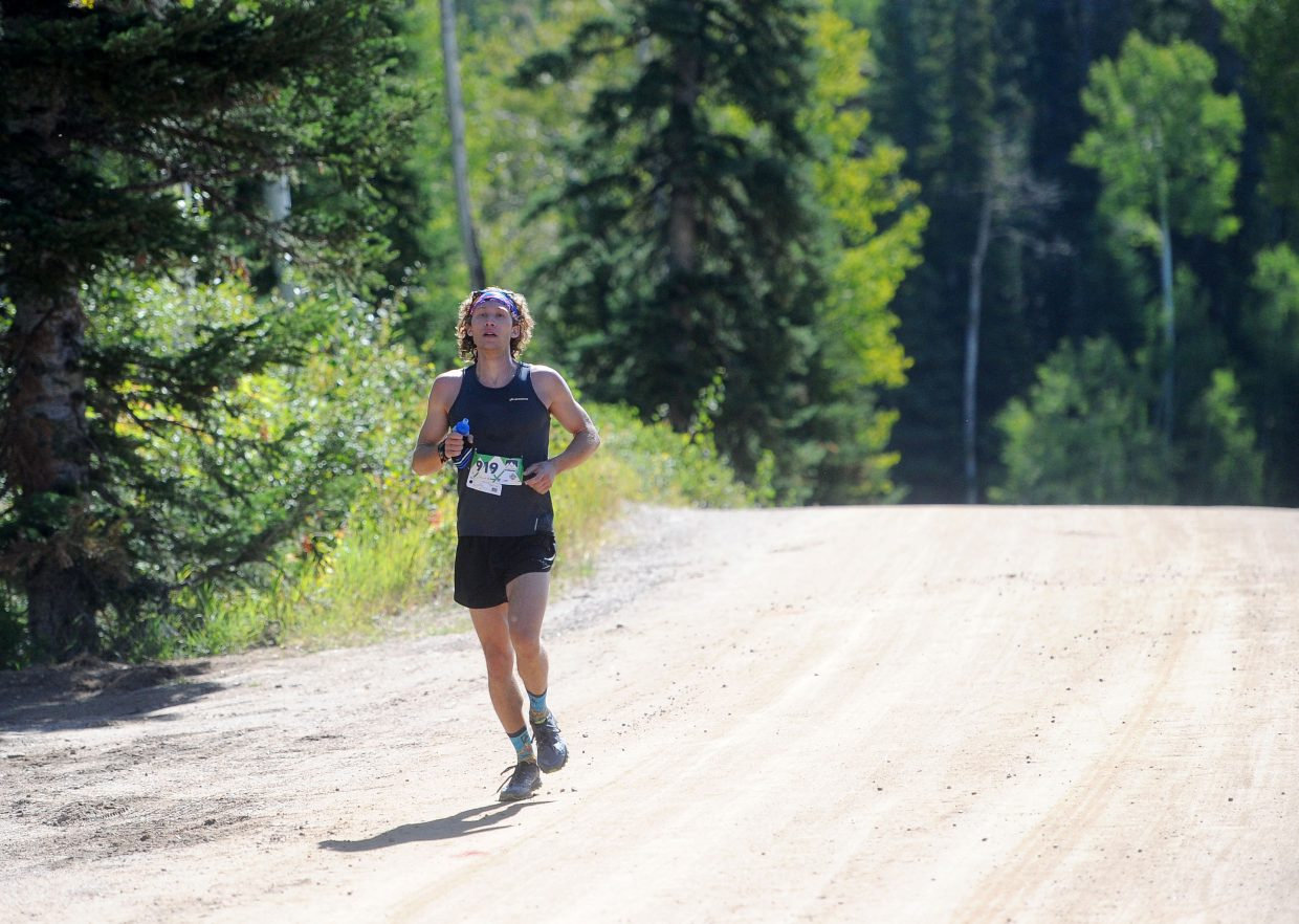 Boulder's Cooper Rudin placed second overall with a time of 4 hours, 44 minutes and 29 seconds in the Continental Divide 50k, which finished at the top of Steamboat Ski Area on Aug. 25. It was his first time racing a course over 10k in distance.