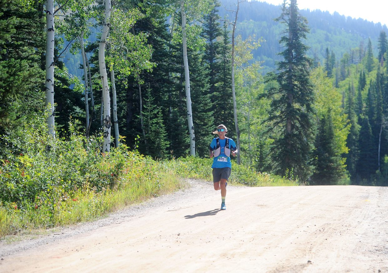Courtney Dauwalter won the Continental Divide 50k at the top of Steamboat Ski Area with a time of 4 hours, 36 minutes and 59 seconds on Saturday. This is the third year in a row the Golden resident has won the race.