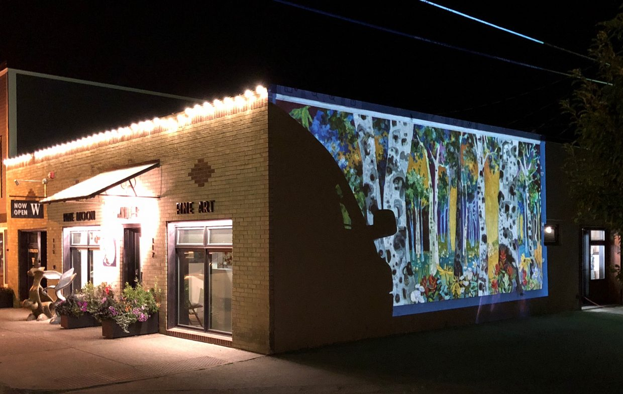 To create the new mural, Lance Whitner will draw the outline onto the wall via a projection which can be seen during this week's First Friday Artwalk. Then, next Friday, the community is invited to partake in the yoga class and painting opportunity to help contribute to the project.