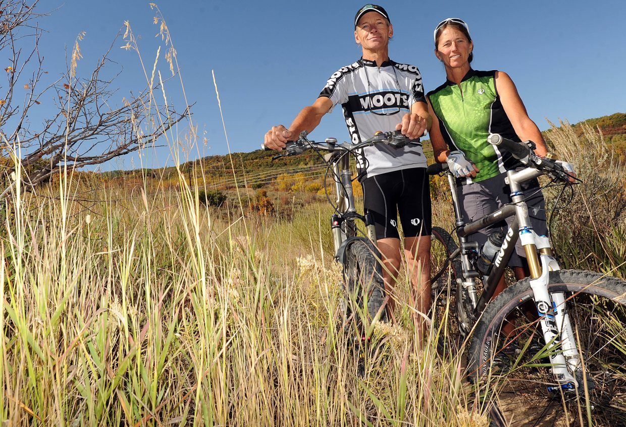 Marc Sehler and Gretchen Sehler at home on Emerald Mountain.