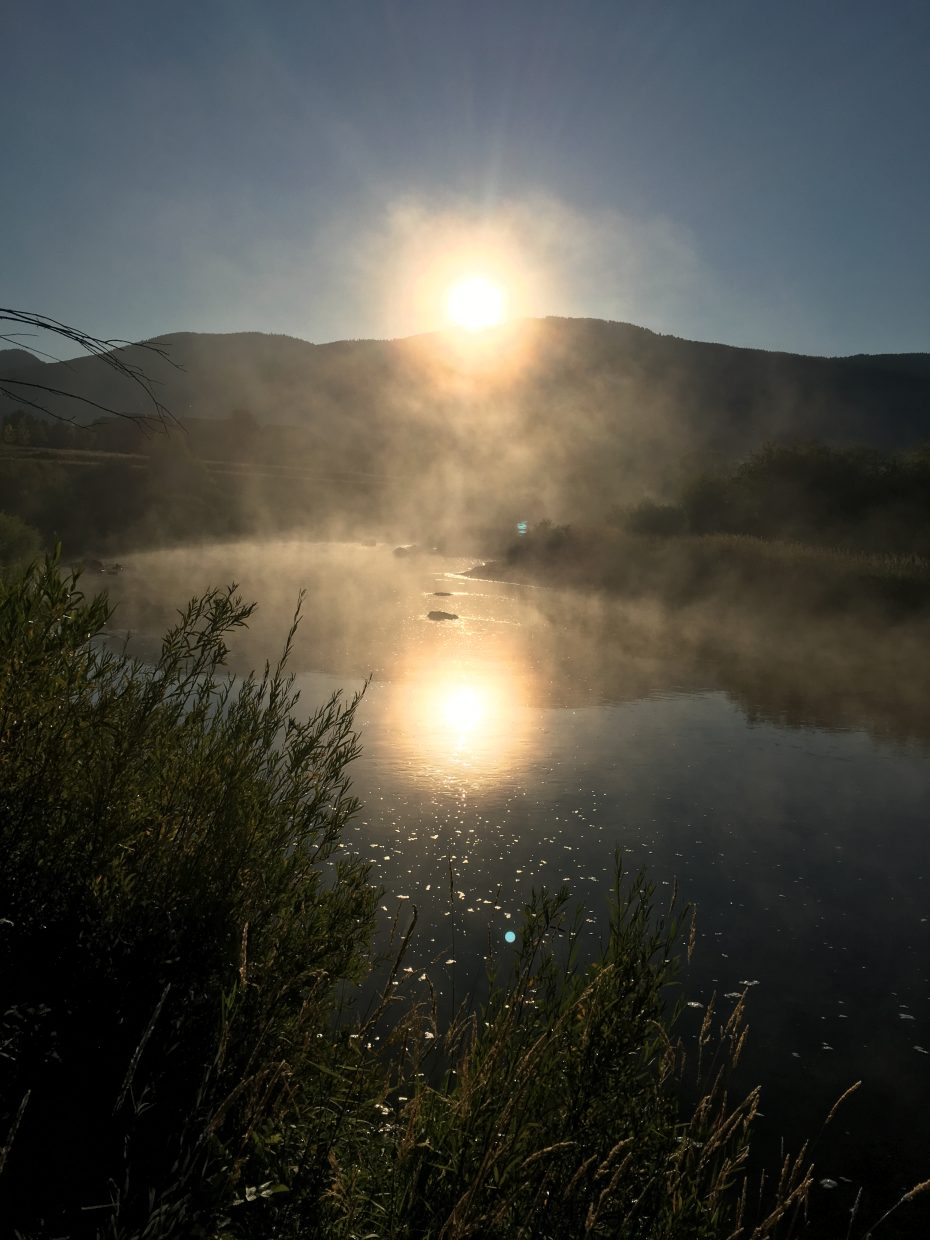 Mist On The Rotary Club Trail River/ Yampa River