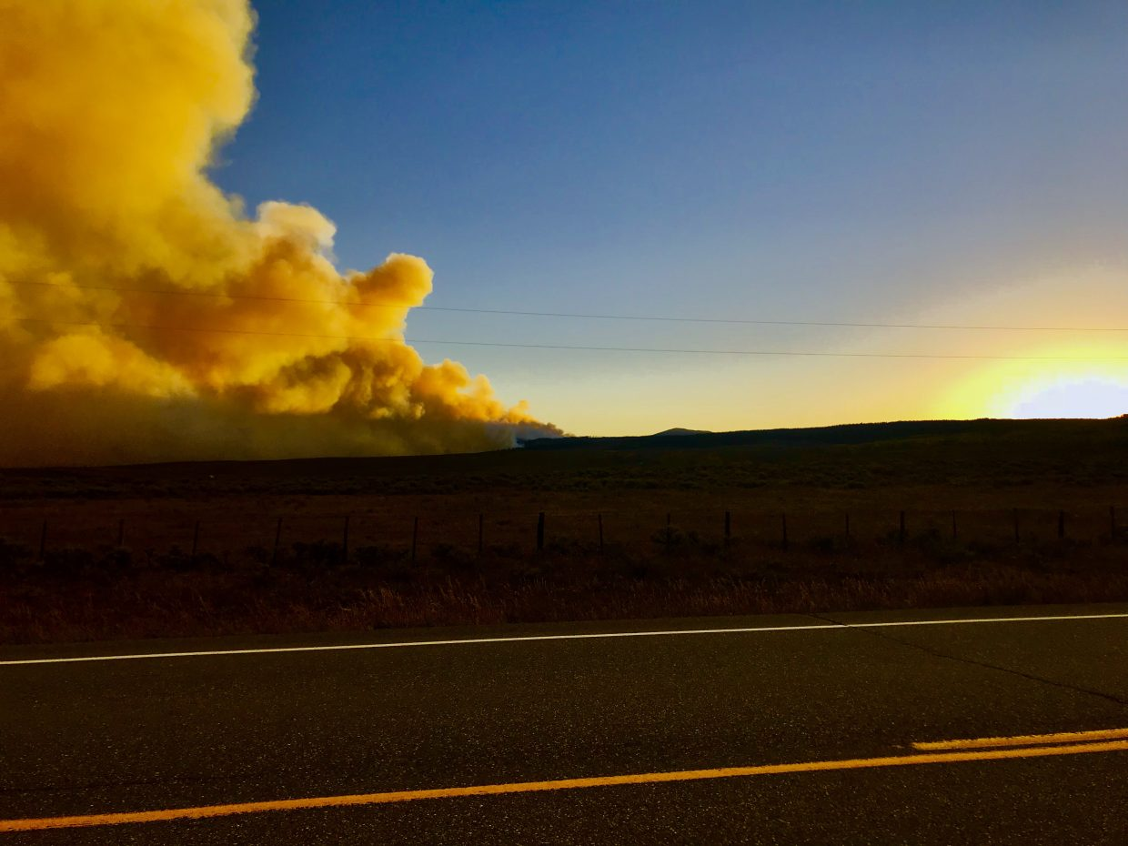 It's unfortunate the fires are present but some of the photographs at dusk are incredible. I drove by and turned around yesterday to capture these incredible pictures. Sad but beautiful.