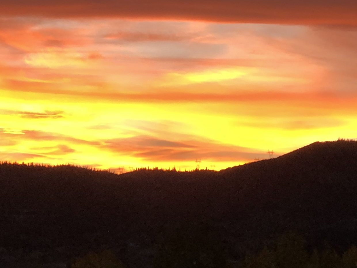 This was taken Wednesday night from our rental on Apres Ski Way!