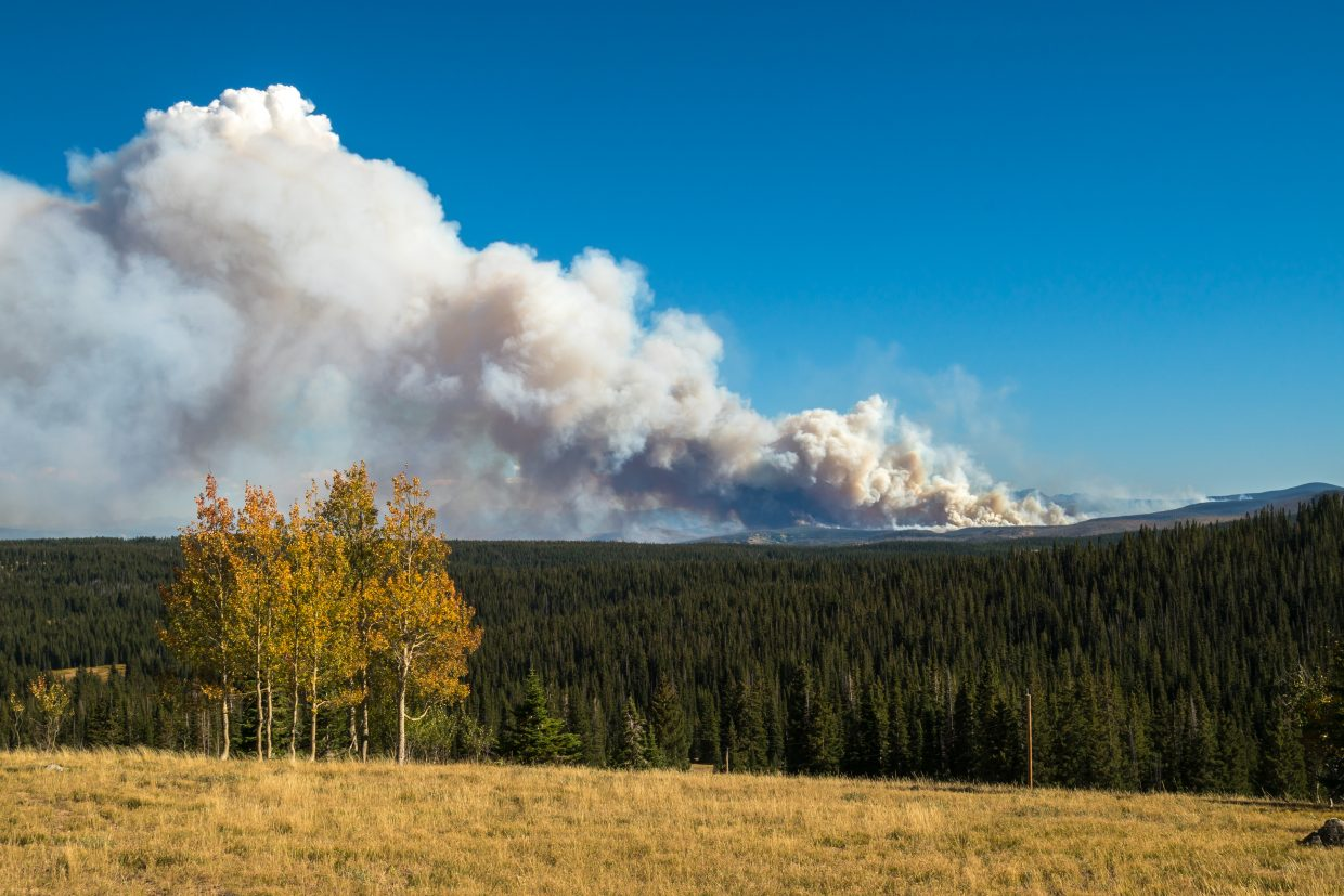 A few shots of the Silver Creek Fire from up on Rabbit Ears Pass.