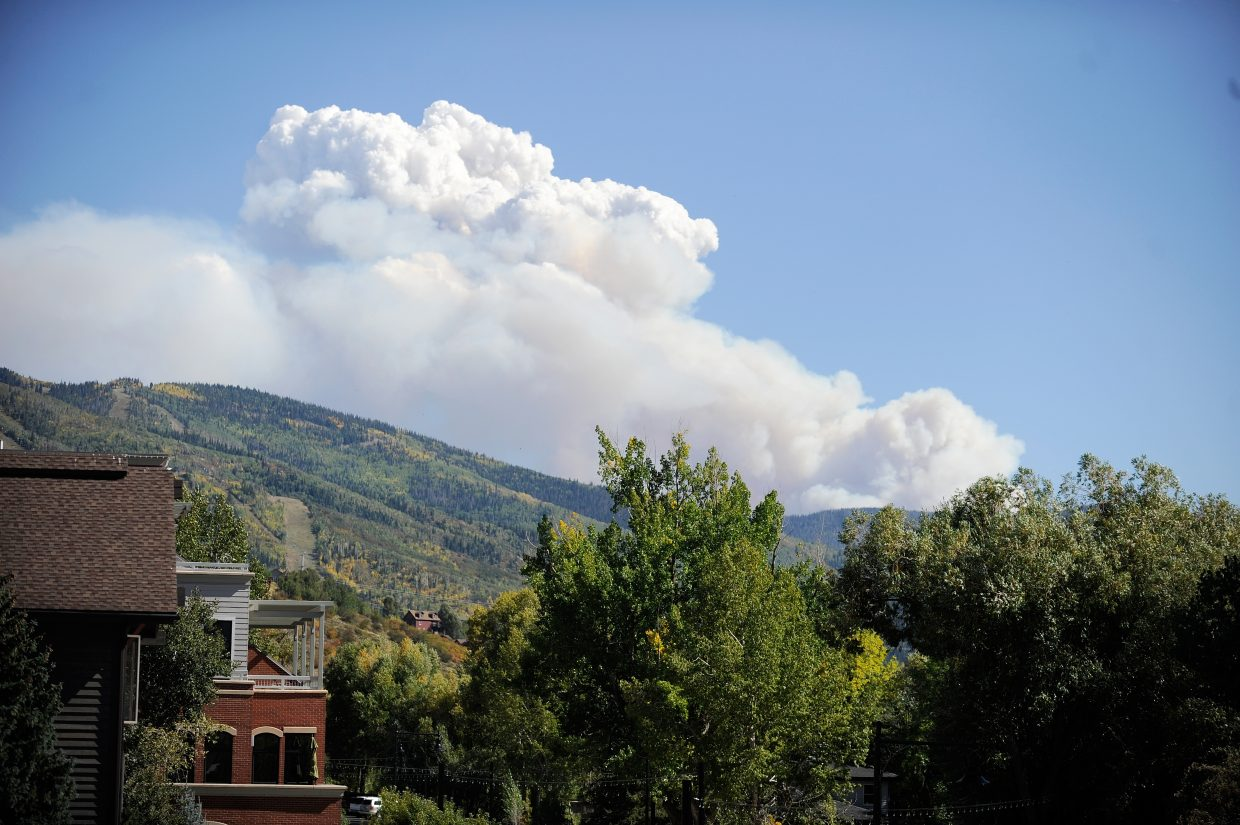 The Silver Creek Fire blew up Wednesday afternoon.