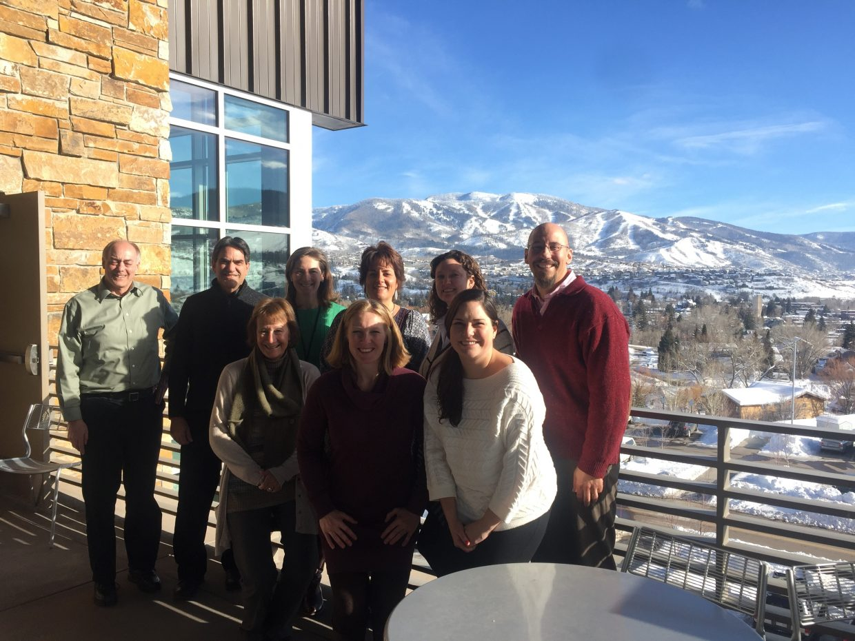 The board and staff of Health Partnership Serving Northwest Colorado at their first strategic planning meeting