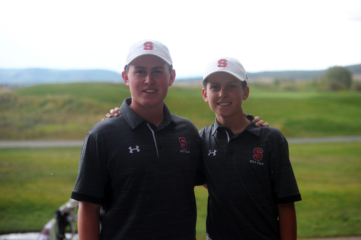 Steamboat Springs senior Jack Rotermund (left) and brother, sophomore Ollie Rotermund (right), spent six months training in Florida at PGA National this year. Ollie carded a 73 while Jack added a 74-stroke performance at Haymaker golf course on Thursday, Sept. 6.