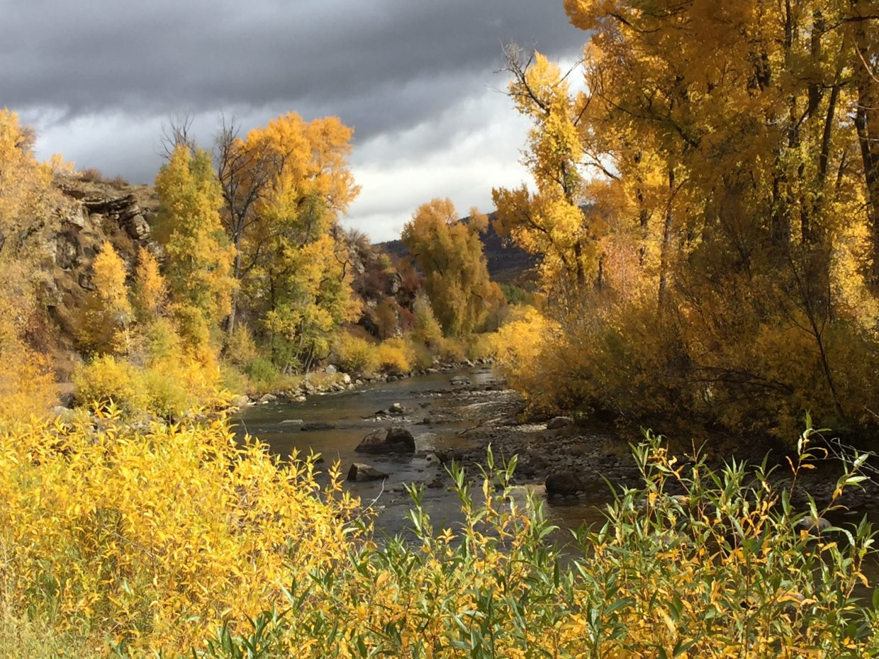 The Yampa River in Steamboat Springs.