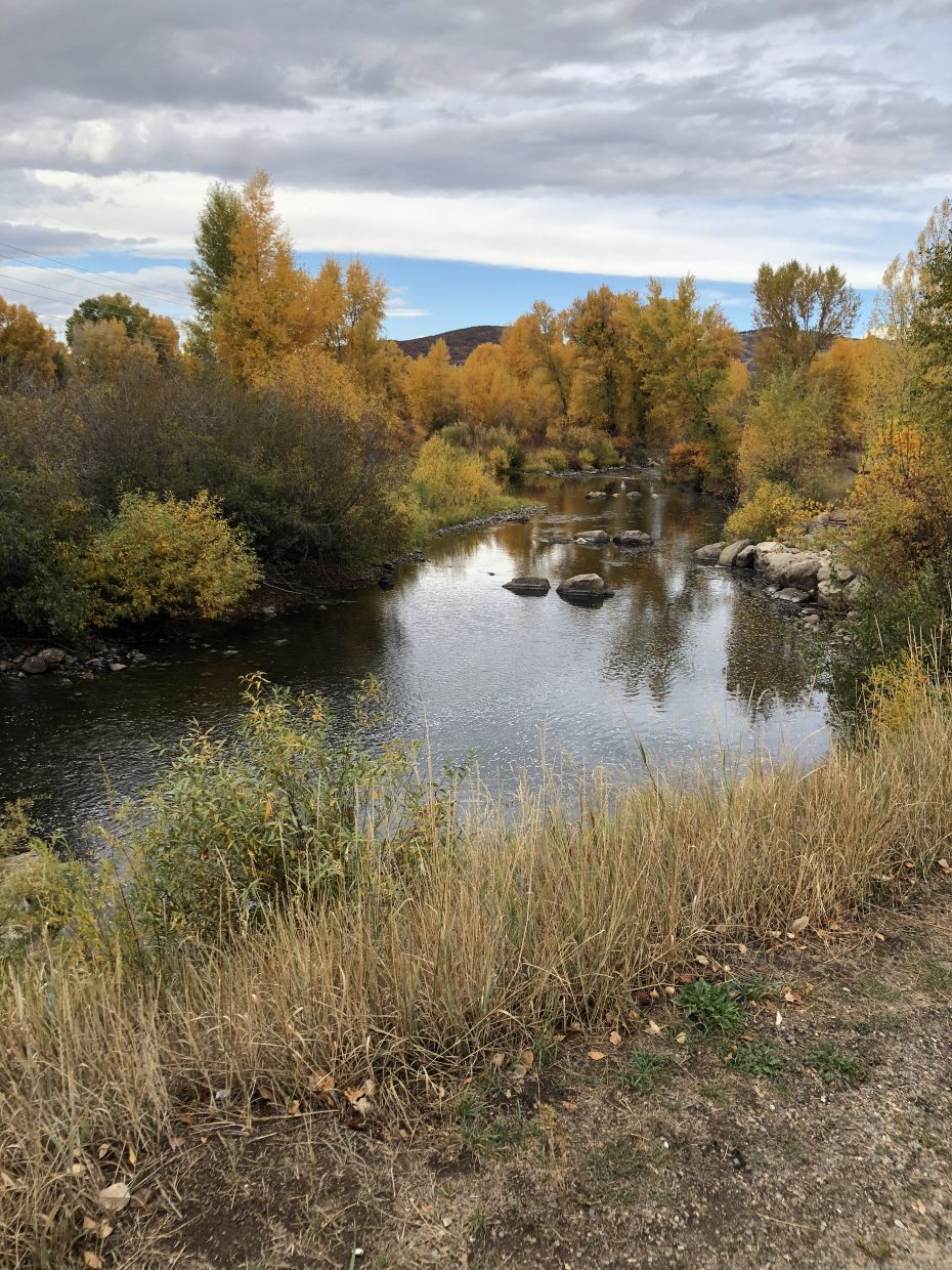 Clouds lift at the Yampa River Core Trail in Steamboat Springs.