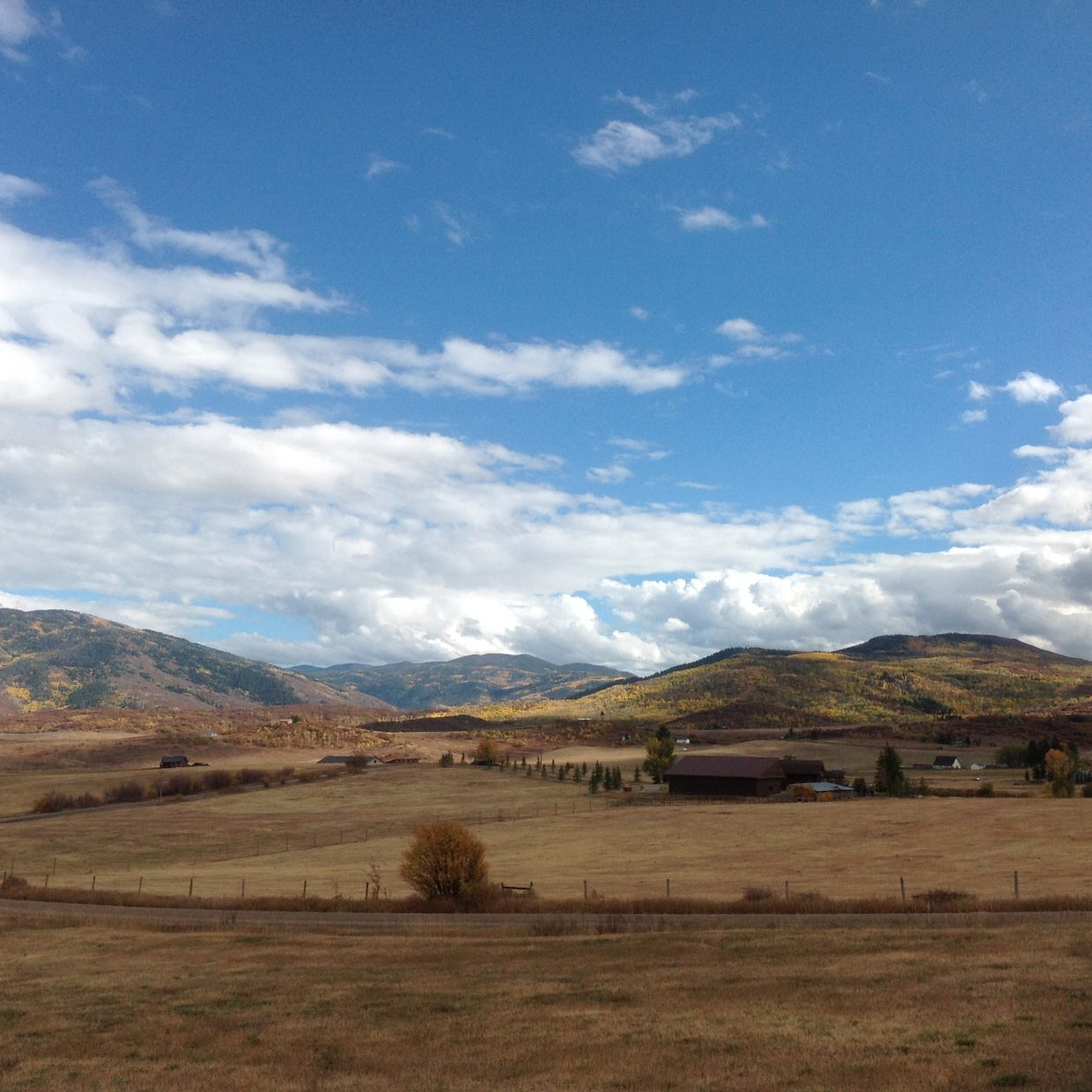 South of the Yampa Valley begins to look bare as fall marches on.