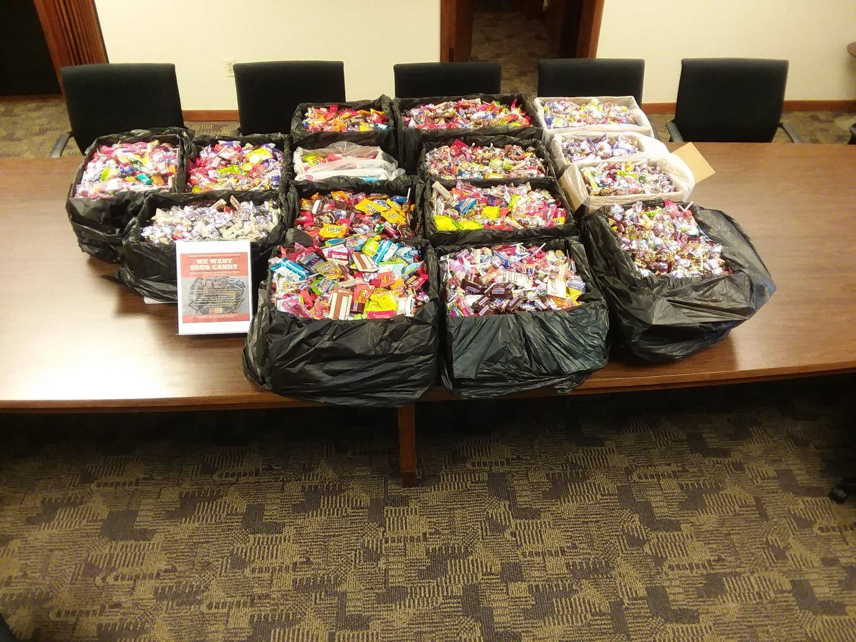 Wells Fargo Advisors once again collected candy for the troops.