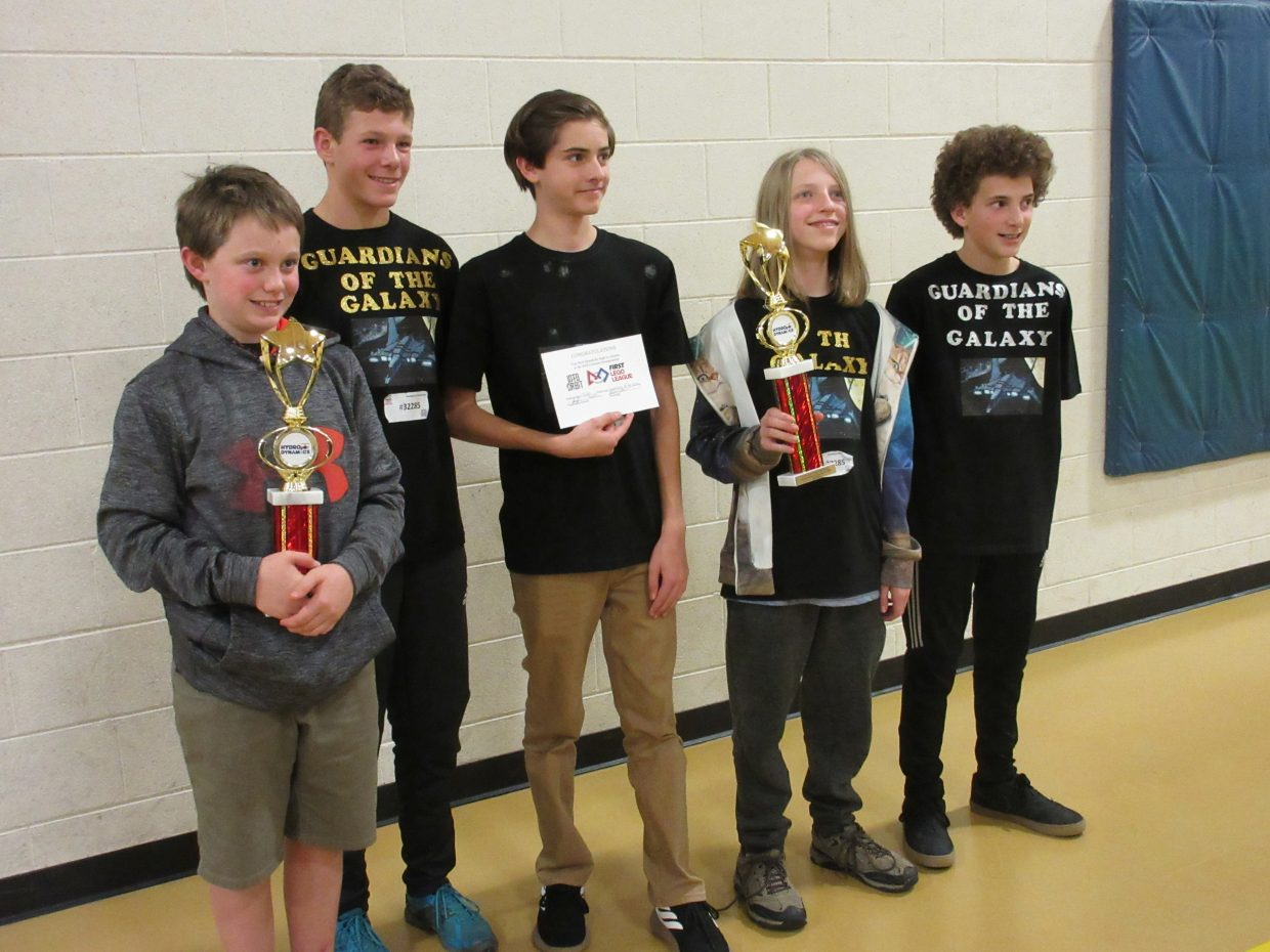 Guardians of the Galaxy, a robotics team from Steamboat Springs, competed against 24 teams at the North Denver Qualifier on November 3rd. Their exemplary performance and high scoring robot game earned them a trip to the state championship to be held at CU Denver on December 15th.