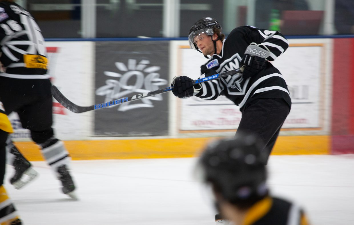 Steamboat played a three-game series with the Cheyenne Stampede. Both teams are in the Western States Hockey League. Cheyenne won the first two games, 5-2, and 5-0. The Wranglers took the third game in the series, 7-5, on Sunday afternoon. Photos courtesy David Dietrich.