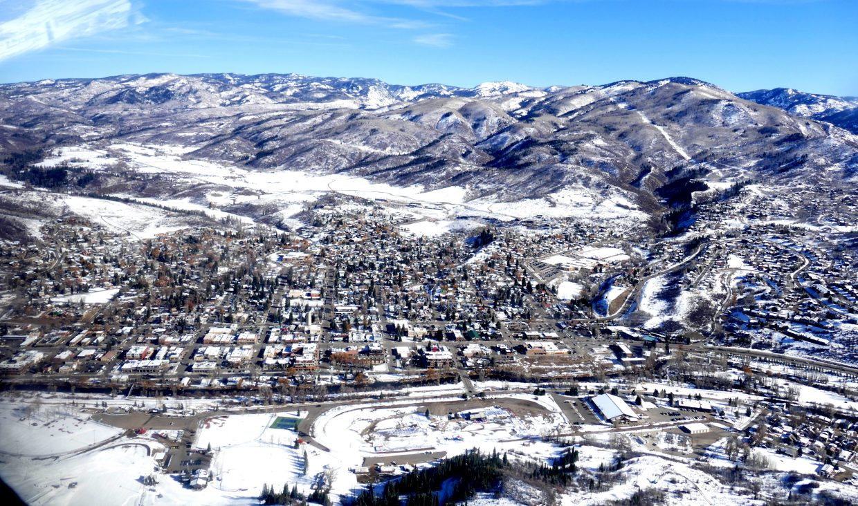 I was invited to fly over the Yampa Valley today with EcoFlight out of Aspen. Pictured is Steamboat Springs.