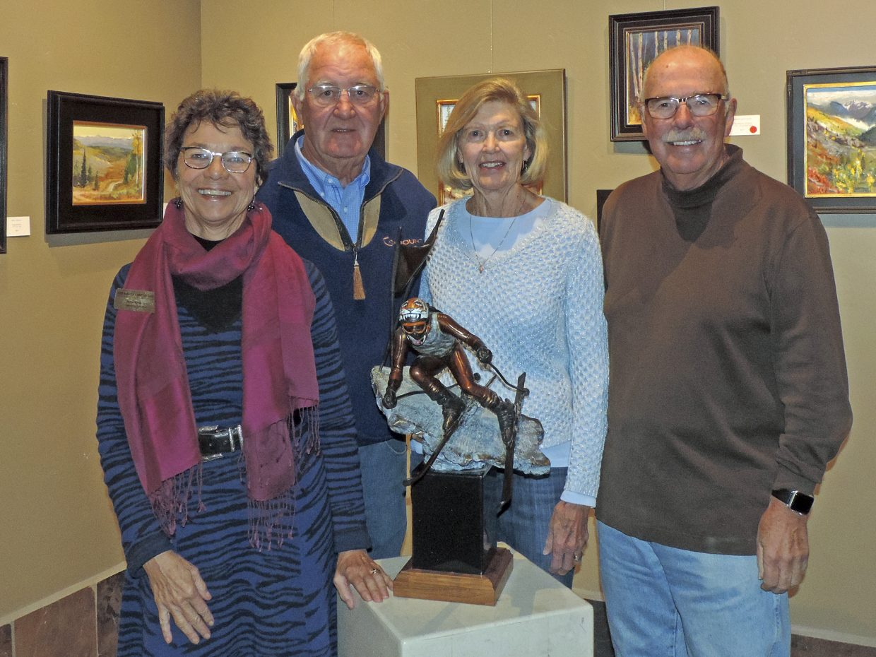 The Steamboat Art Museum has received a generous gift given from Jan and Denny Stamp to honor the life of their granddaughter, Ashley Stamp. Pictured from left, are Betse Grassby, museum executive director, Denny and Jan Stamp and Rod Hanna, museum board president. The memorial gift has been acknowledged at the museum with the permanent name of