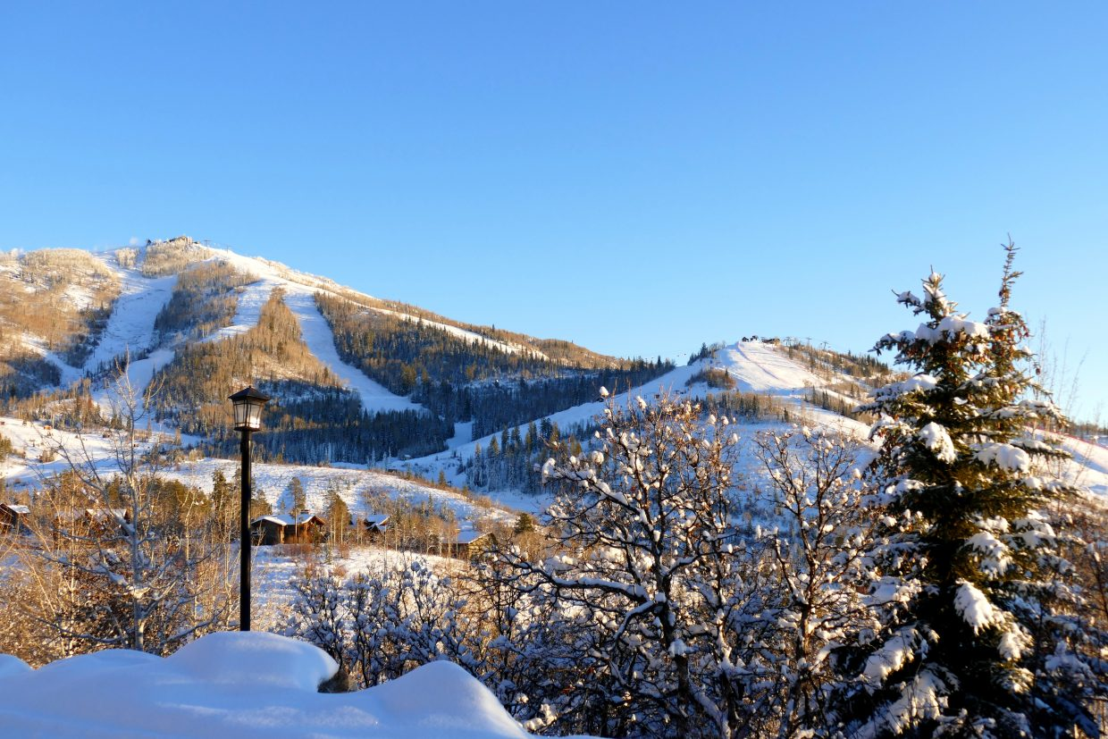 Monday, Nov. 26, 2018, boasted clear skies and nice weather at Steamboat Resort.