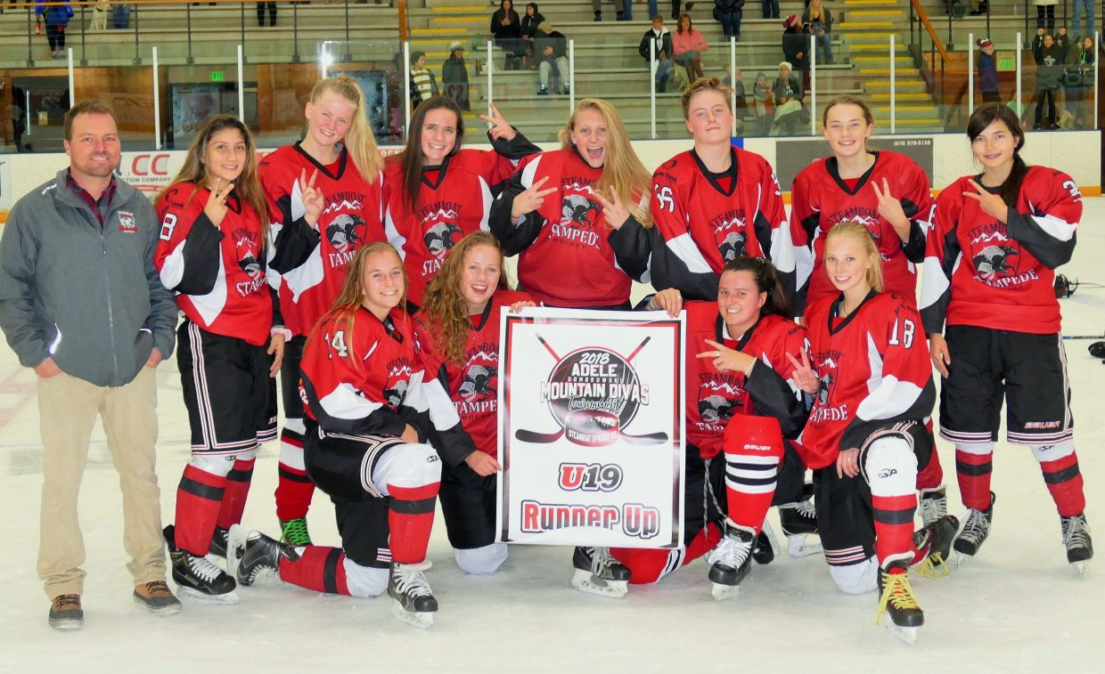Steamboat Stampede U19 hockey team takes second place in the Adele Dombroski Tournament.