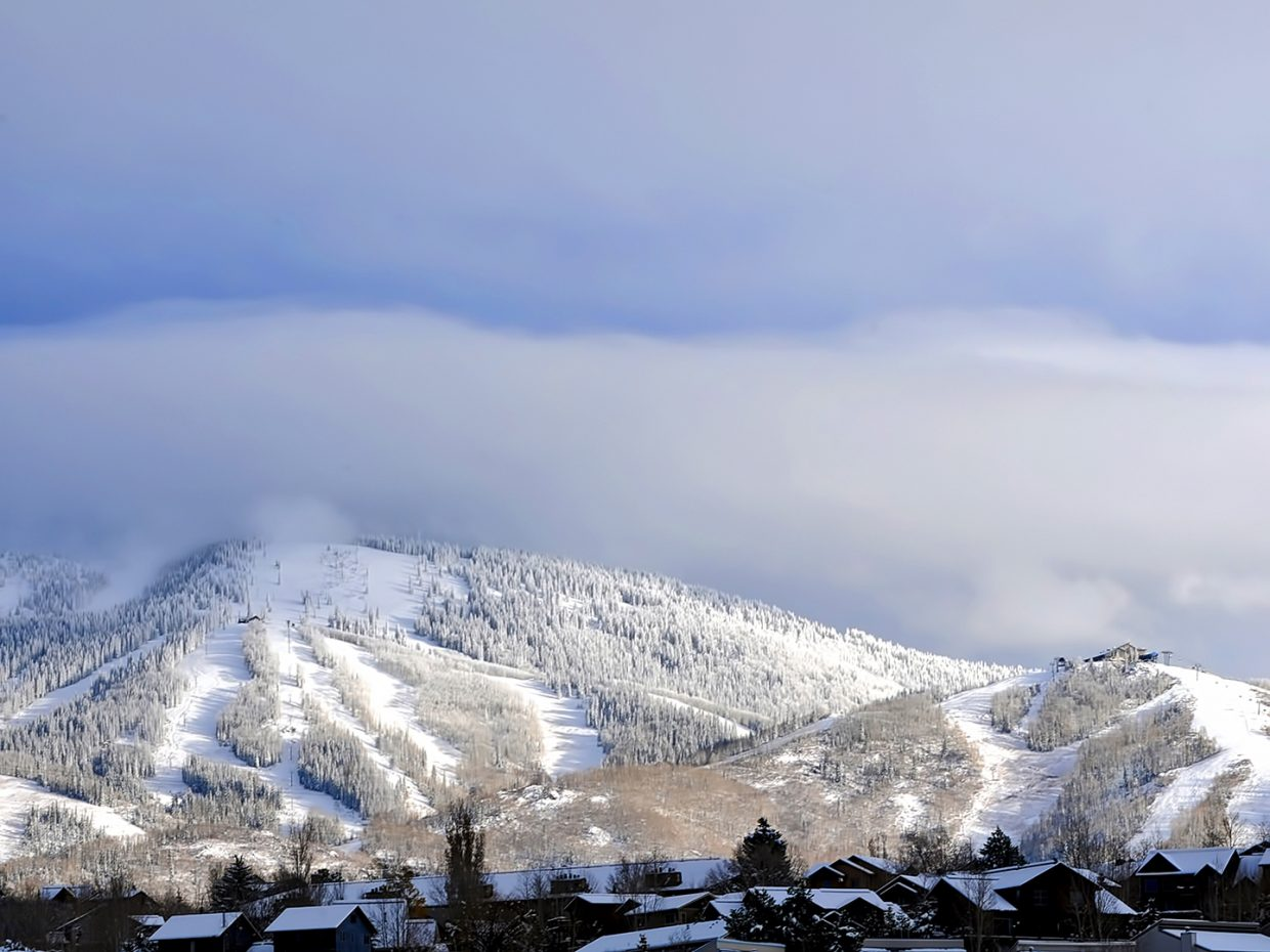 Mount Werner is starting to look more and more like ski season is upon us.