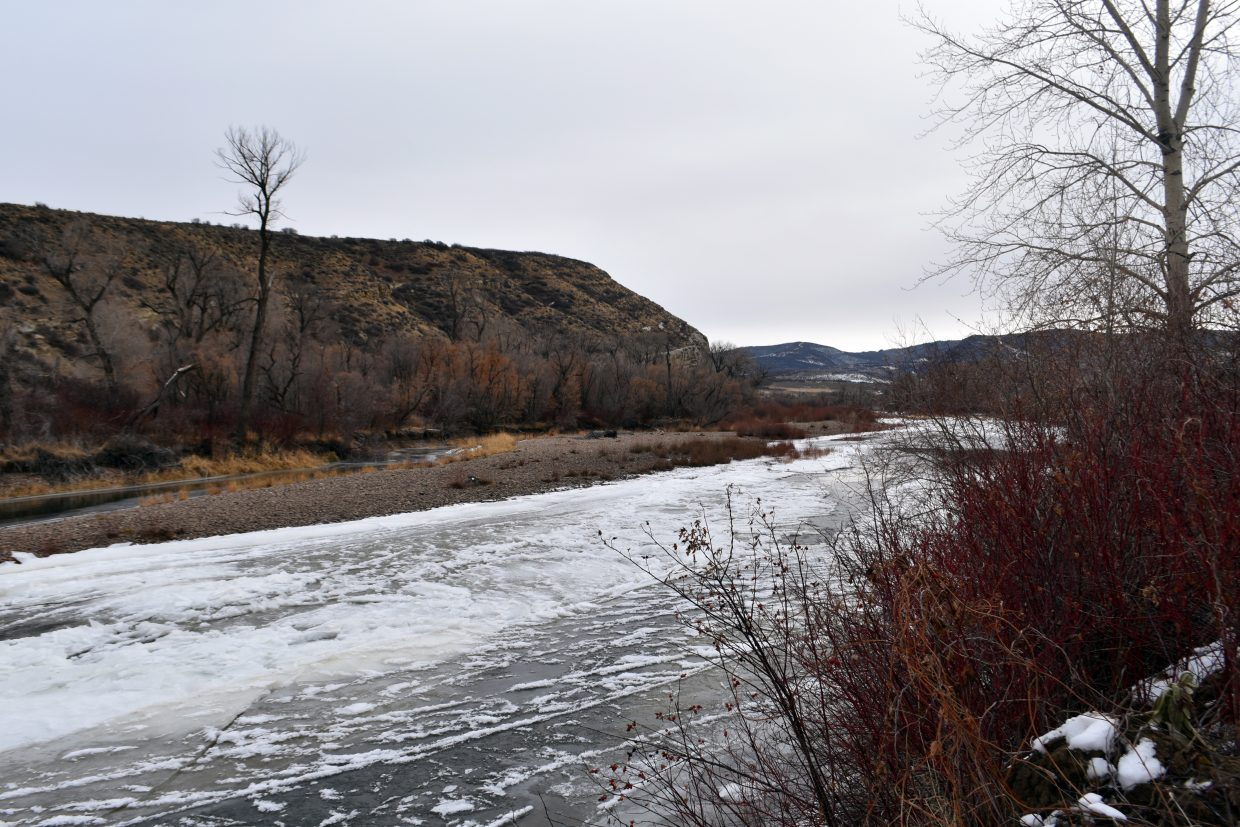 Yampa River is already under ice at the Nature Conservancy's Yampa River Preserve near Hayden.
